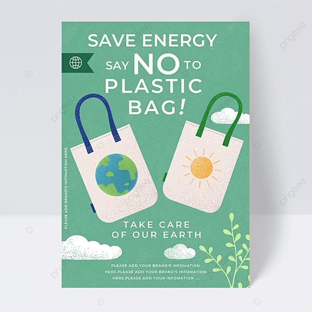 green recyclable eco bag public welfare flyer