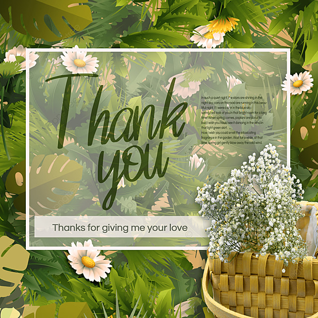 green spring thank you mood ad