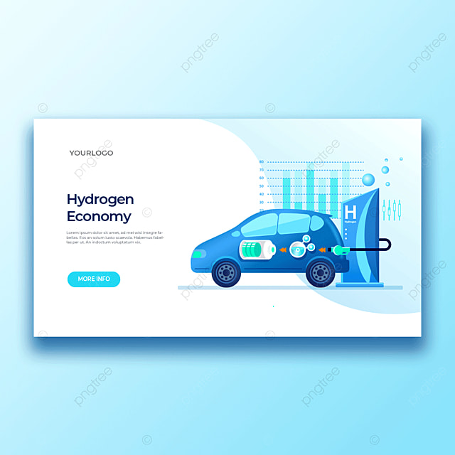 high tech intelligent new hydrogen vehicle fuel new material charging application template
