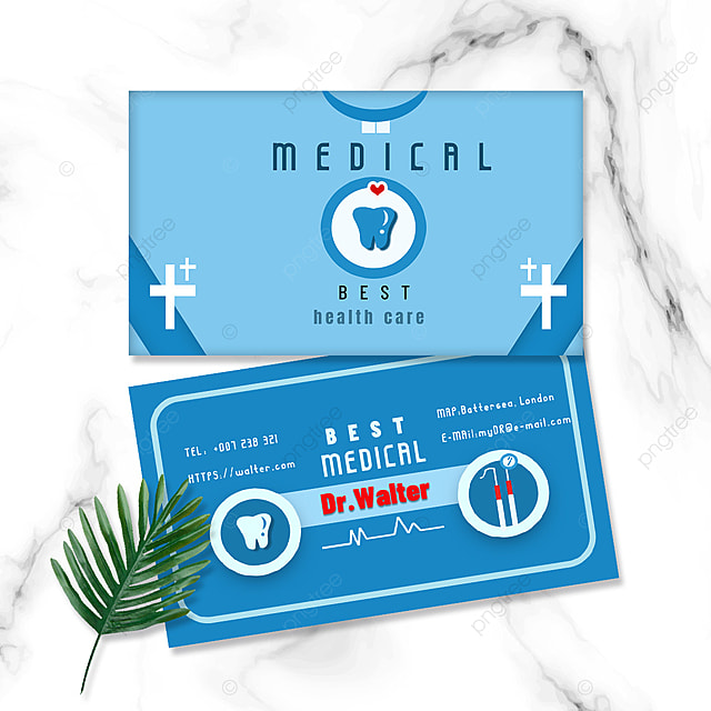 medical industry dentist equipment double sided business card