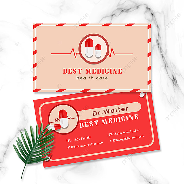 medical industry doctors and nurses double sided business cards medical medication