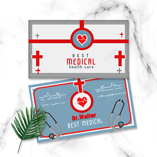 medical profession doctor nurse double sided business card stethoscope