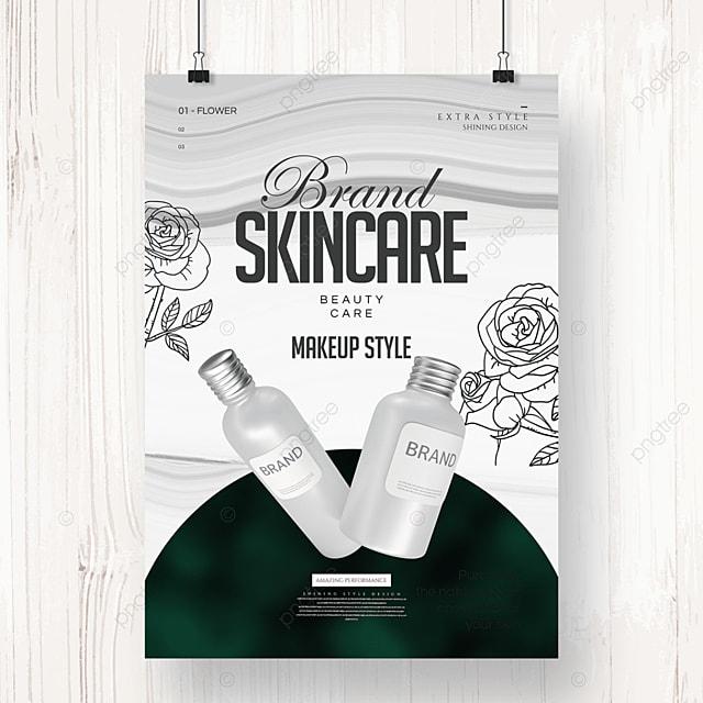 modern fashion creative line cosmetics poster