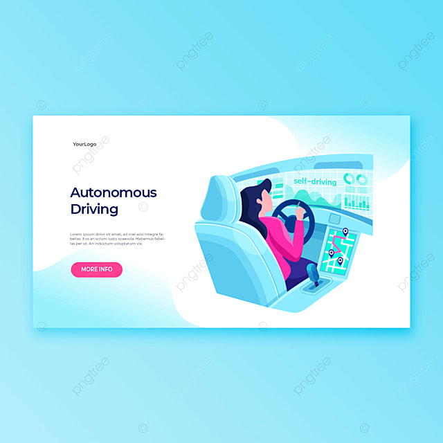 modern new smart computer car driving application template