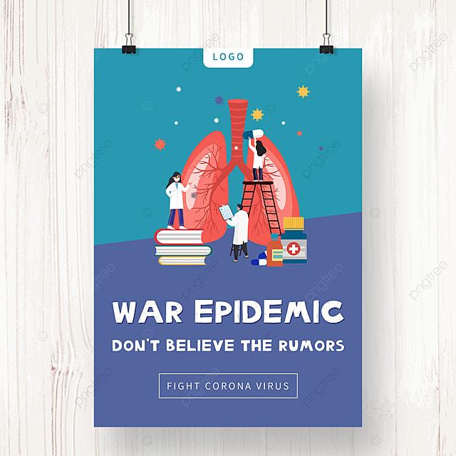 new crown virus pneumonia infection public welfare poster