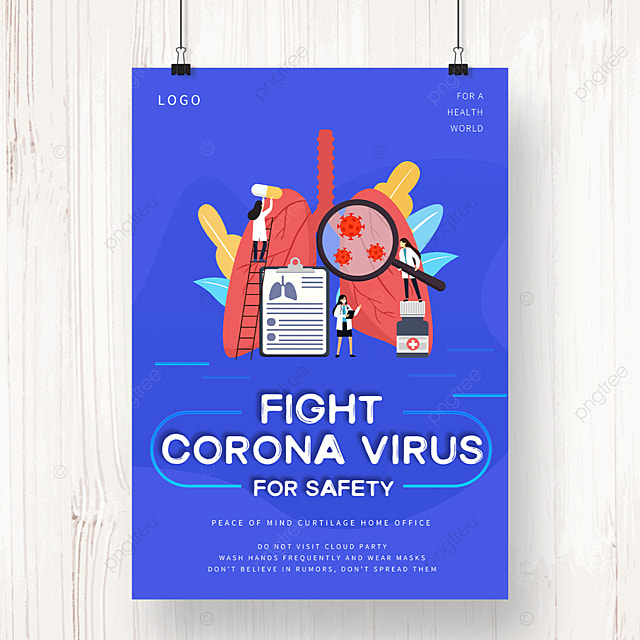 new crown virus prevention and control illustration public welfare poster