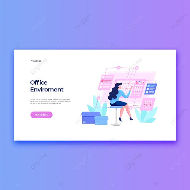 office environment modern office professional women smart application template