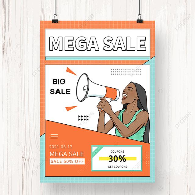 orange memphis promotion sale poster