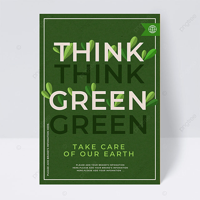 promotion of green energy poster public welfare flyer
