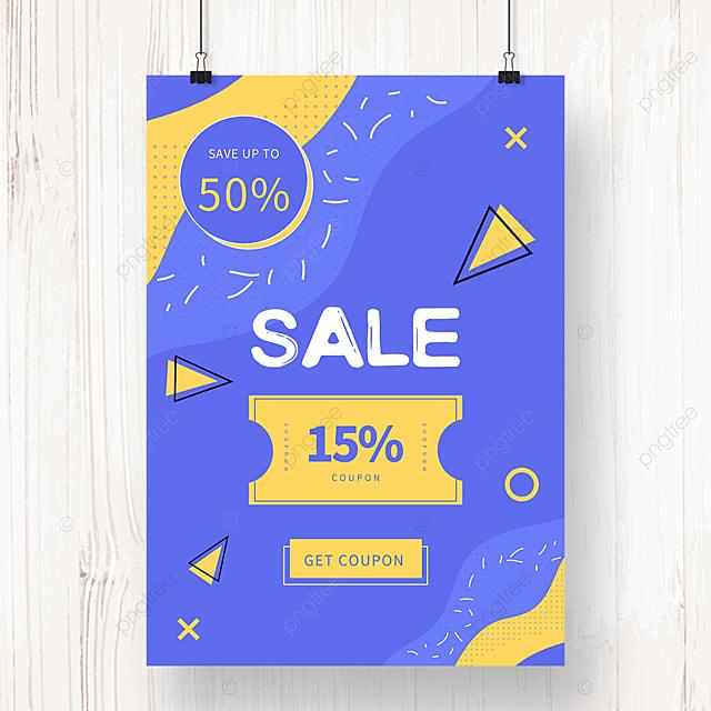 purple simple memphis promotion poster