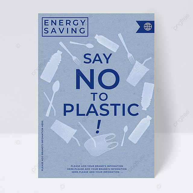 reduce plastic and save energy public welfare flyer
