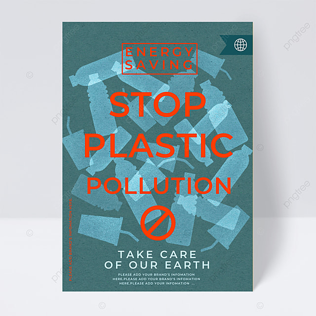 reduce plastic pollution public welfare flyer