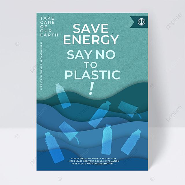 save energy limit plastic public welfare flyer