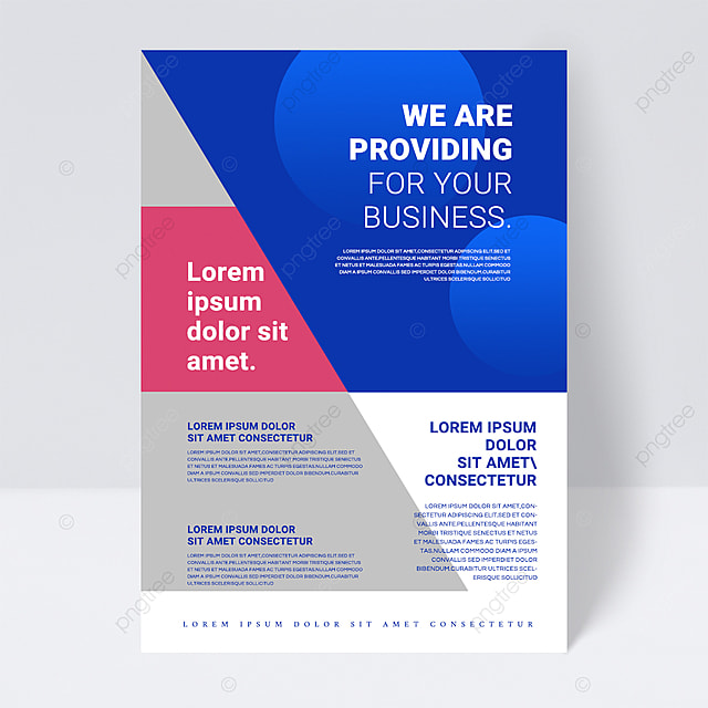 simple color blue texture shape abstract business flyer