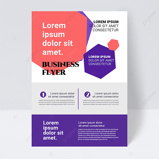simple color white shape abstract business flyer