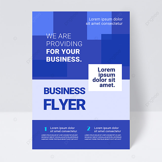 simple colorful blue shape abstract business flyer