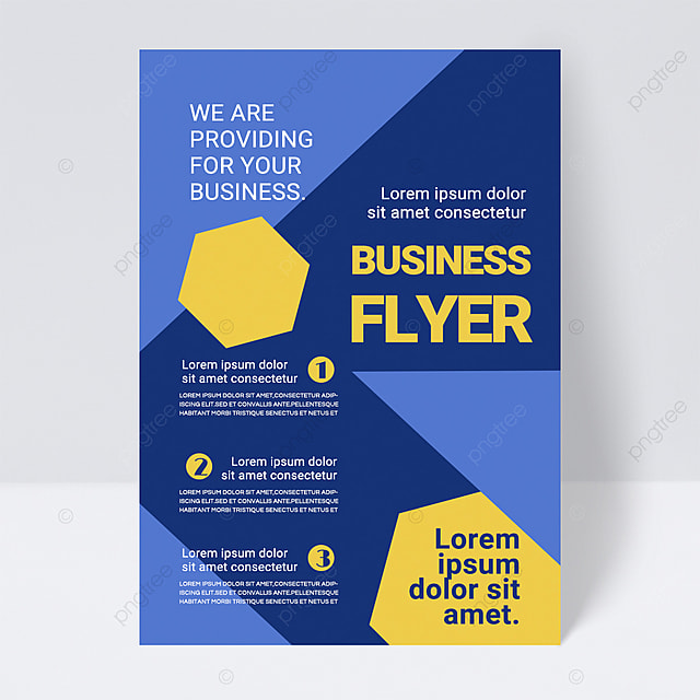 simple colorful dark blue shape abstract business flyer