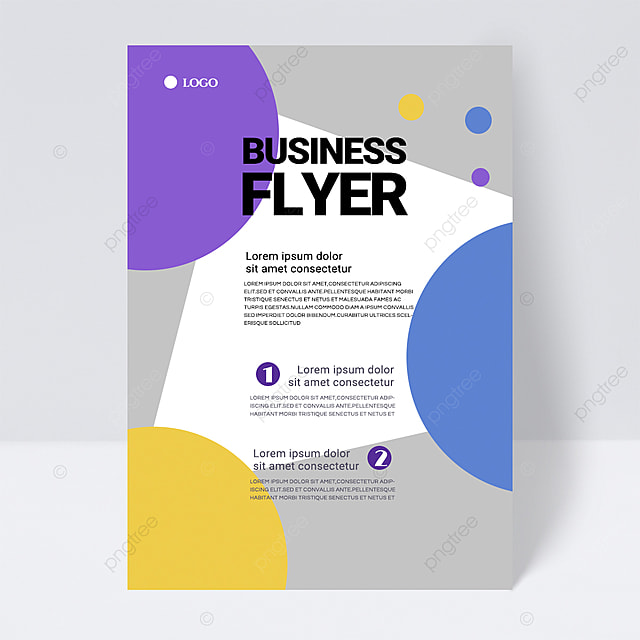 simple colorful gray shape abstract business flyer