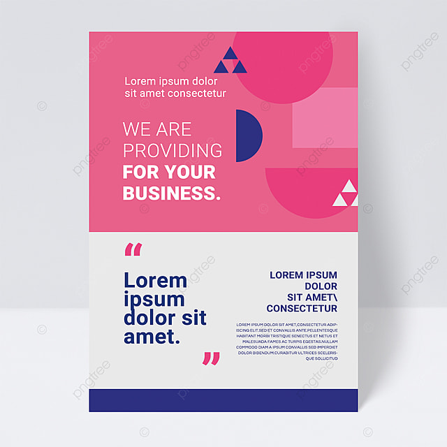 simple colorful pink shape abstract business flyer