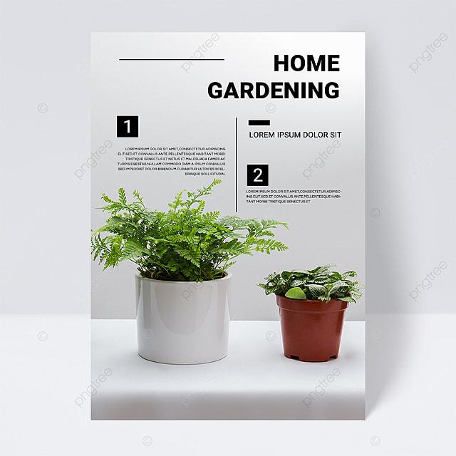 simple gradient texture green gardening brochure flyer