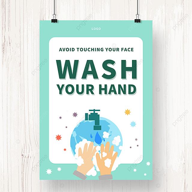 simple hand washing propaganda poster