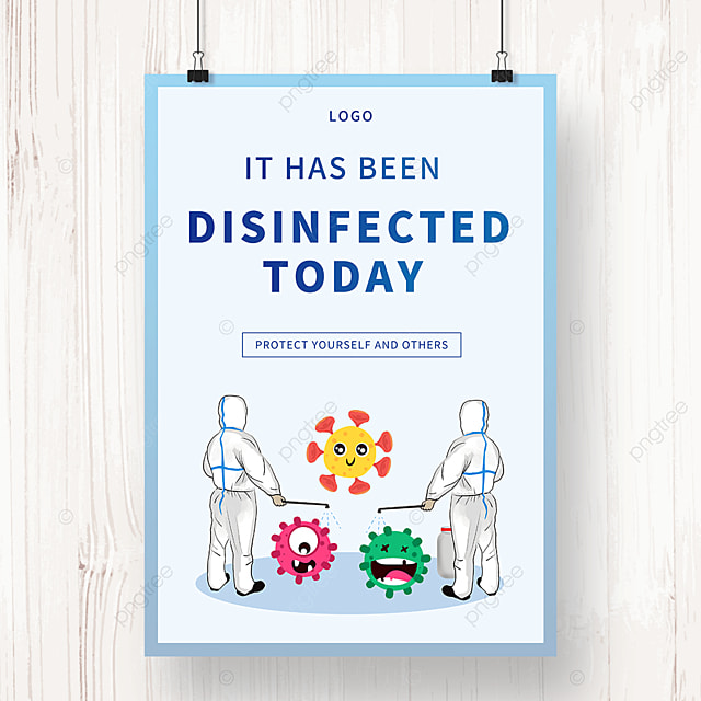 simple new coronavirus epidemic prevention and disinfection public welfare poster