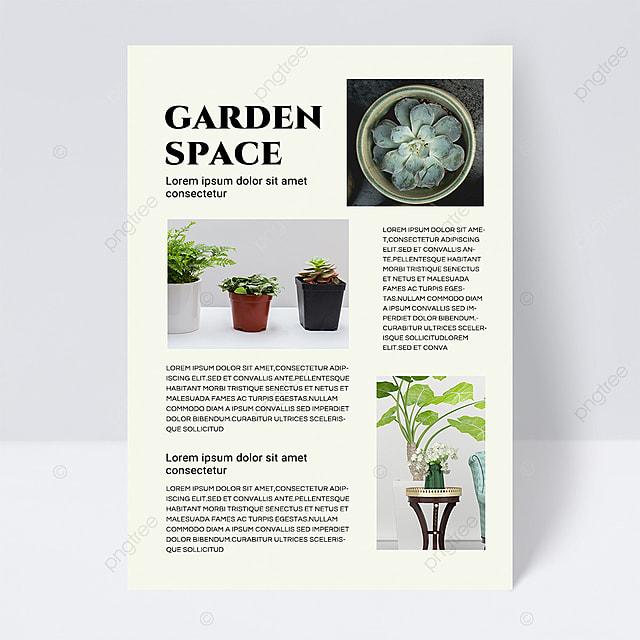 simple texture green gardening brochure flyer