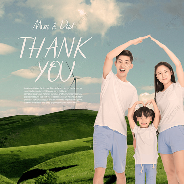 spring family mood advertisement