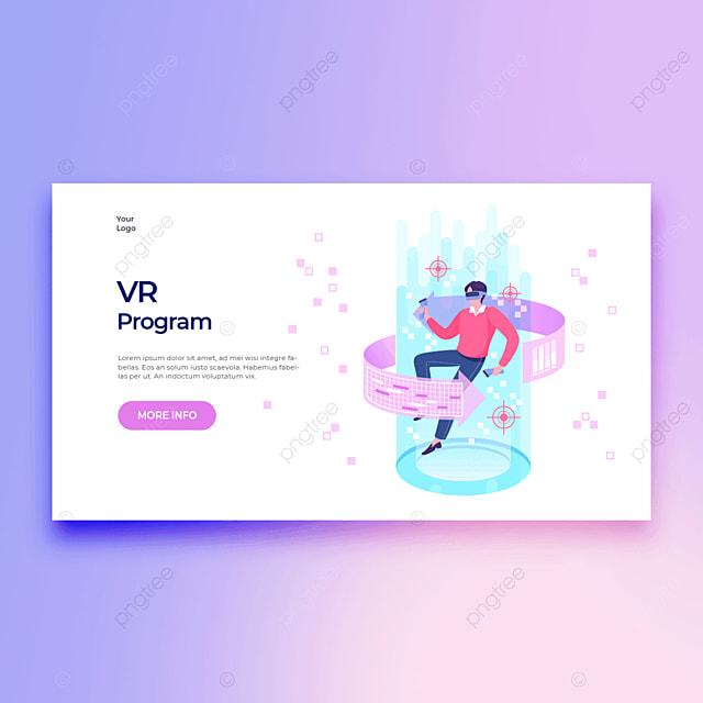 vr program modern new technology personal multimedia practical technology application template