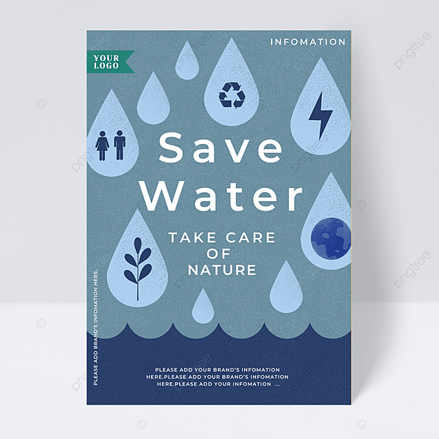 water conservation and environmental protection public welfare flyer