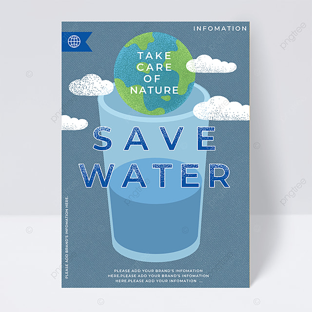 water conservation poster public welfare flyer
