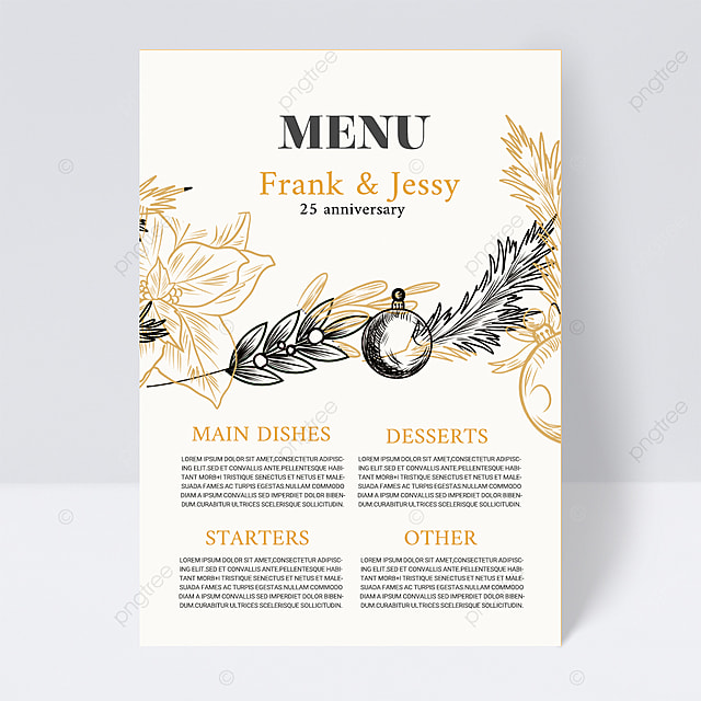 white elegant simple plant wedding menu
