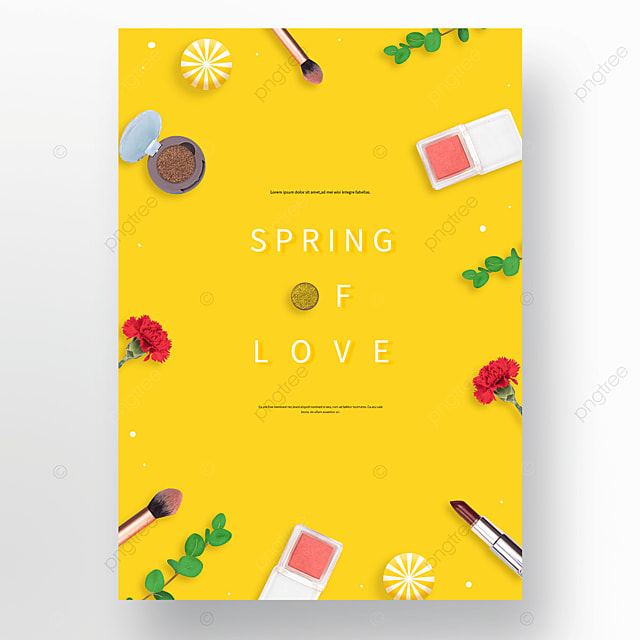 yellow spring cosmetics poster