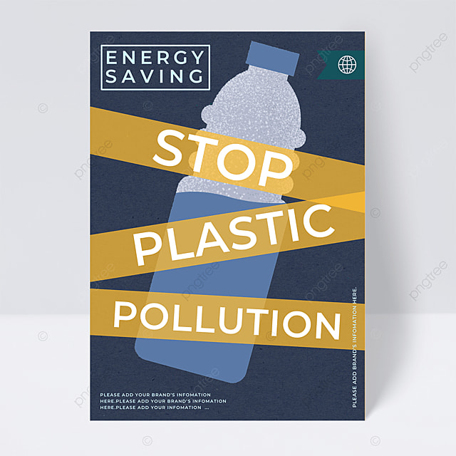 yellow warning to restrict plastic environmental protection public welfare flyer