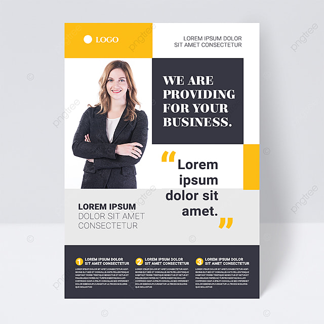 color simple black shape abstract business flyer