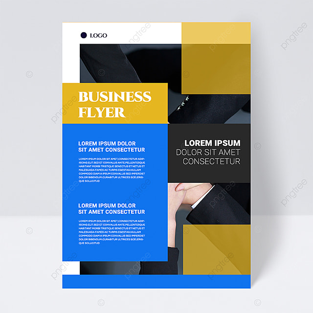 color simple texture blue shape abstract business flyer