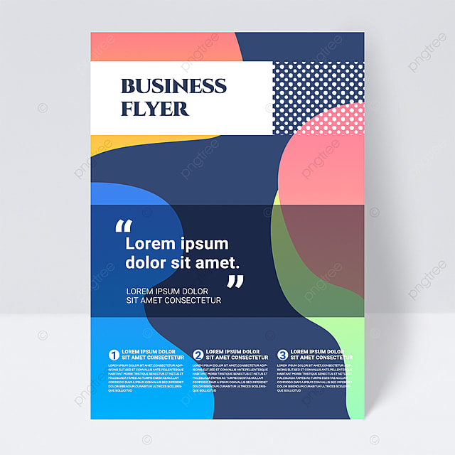 colorful minimalistic geometric shapes abstract business flyer