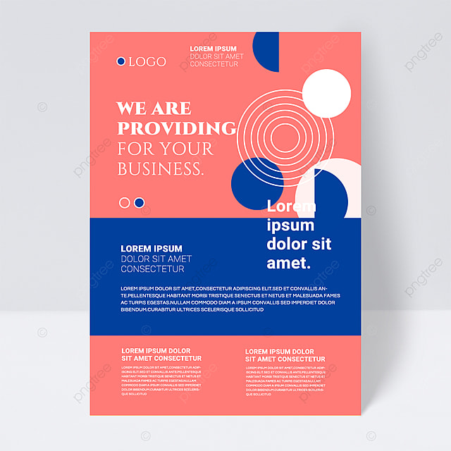 colorful minimalistic shapes abstract business flyer