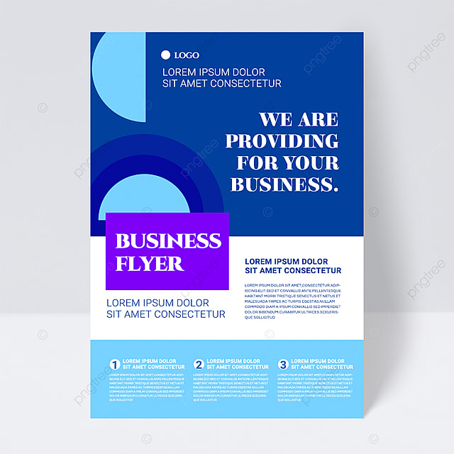 colorful simple blue shape abstract business flyer