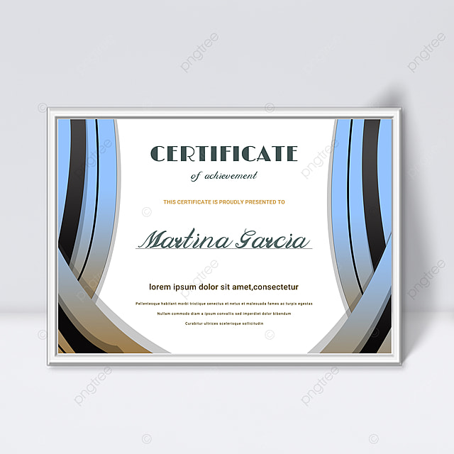 minimalistic blue gradient abstract geometric shape colorful certificate template