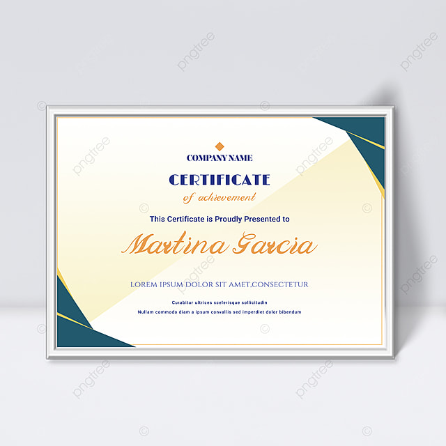 minimalistic gradient abstract geometric shape colorful certificate template