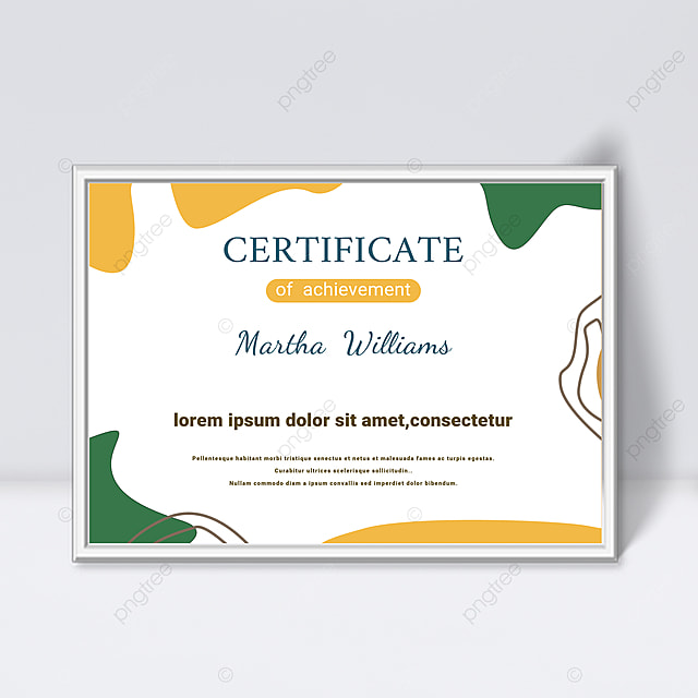 minimalistic white abstract geometric lines colorful certificate template
