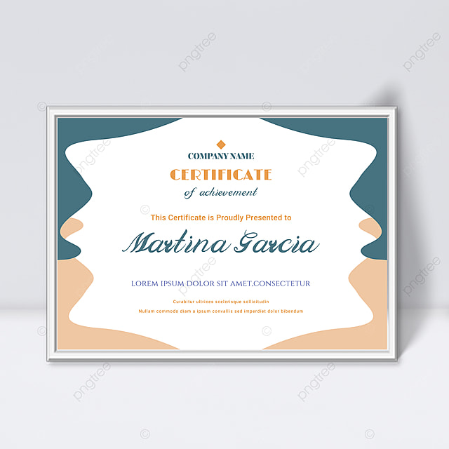 minimalistic white abstract geometric shape colorful certificate template