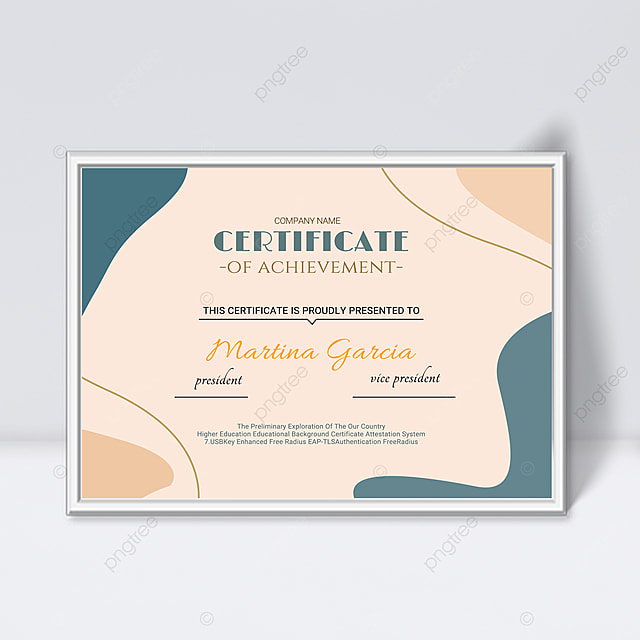 pink minimalist abstract geometric shape colorful certificate template