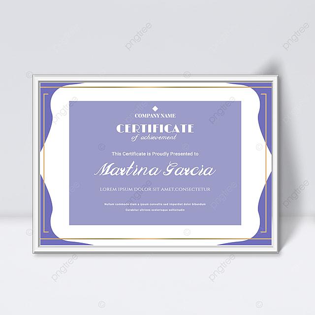 purple minimalist abstract geometric colorful certificate template