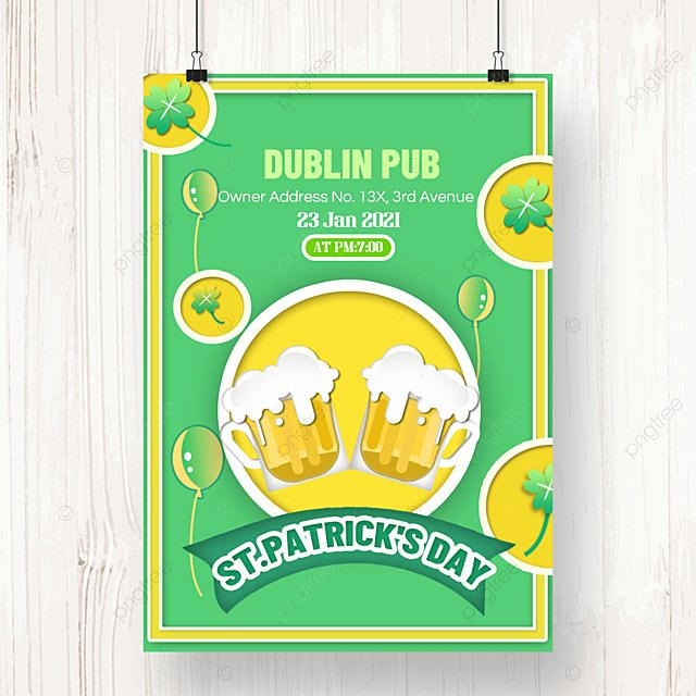 st patricks day beer poster double beer cheers