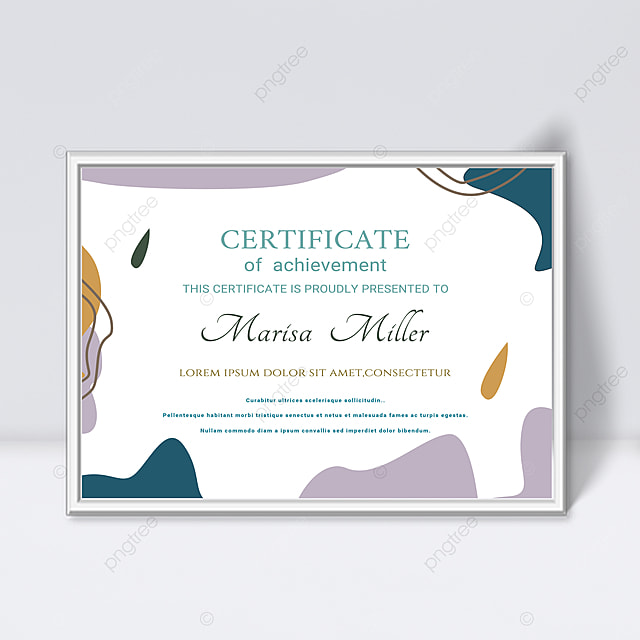 white minimalist abstract geometric lines colorful certificate template