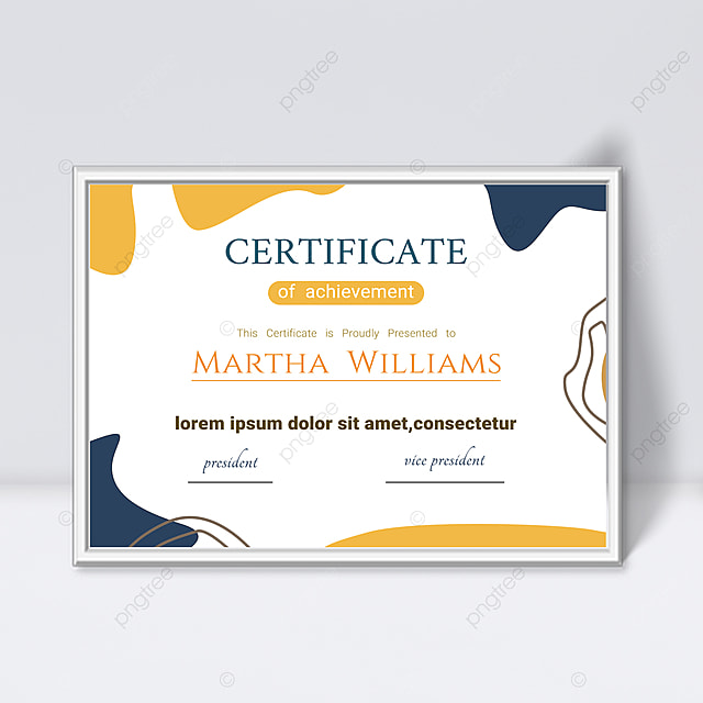 white minimalist lines abstract geometric colorful certificate template