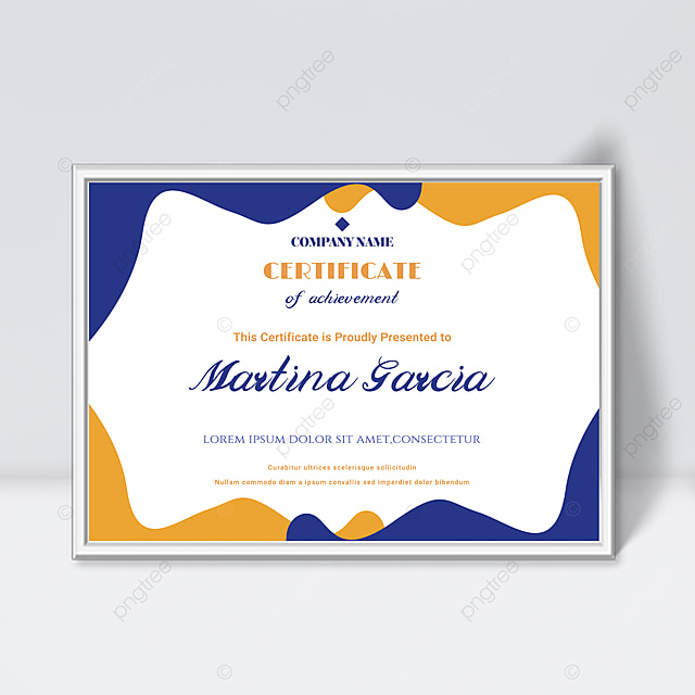 white minimalistic abstract geometric shape colorful certificate template