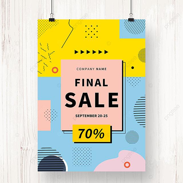 color creative memphis promotion poster